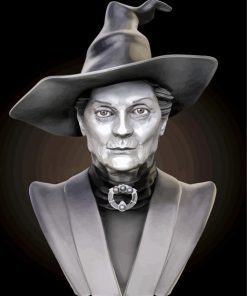 Black and White Minerva Mcgonagall paint by number