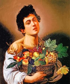 Boy with a Basket of Fruit by Caravaggio paint by number