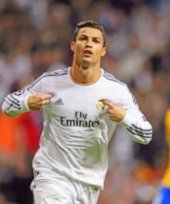 Cristiano Ronaldo Real Madrid Legend paint by numbers