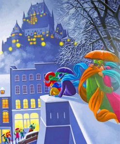 Claude Theberge First Snow paint by numbers