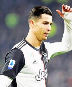 Cristiano Ronaldo In Juventus Jersy paint by numbers
