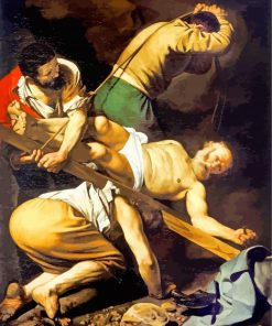 Crucifixion of St Peter Caravaggio paint by number