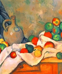 Curtain Jug And Fruit Paul Cezanne Paint by number
