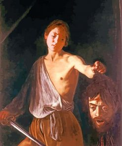 David with the Head of Goliath Caravaggio paint by number