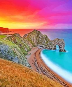 Durdle Door At Sunset paint by numbers