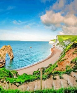 Durdle Door England paint by numbers