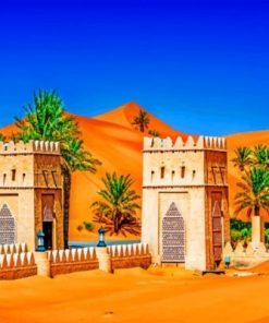 Emirates Tropics Temples Abu Dhabi paint by numbers