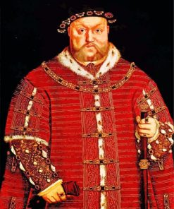 England King Henry VIII paint by number
