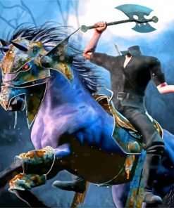 Fantasy Headless Horseman paint by number