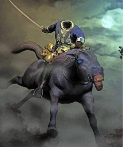 Fantasy-Headless-Horseman-paint-by-numbers