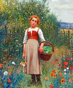 Girl In Garden Paint by numbers