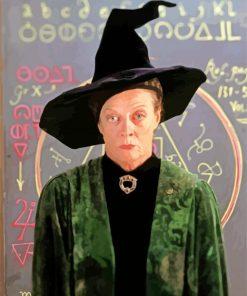 Harryy Potter Minerva McGonagall paint by number