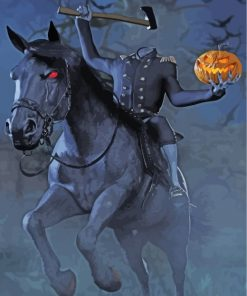 Headless-Horseman-paint-by-numbers