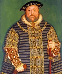 Henry VIII Monarch of england paint by numbers
