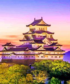 Himeji Castle Japan Paint by number