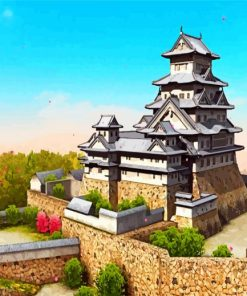 Himeji Castle Paint by numbers