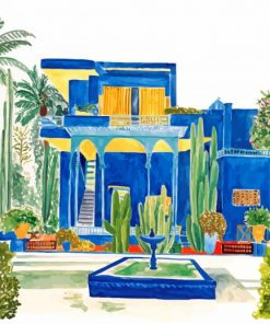 Jardin Majorelle Morocco paint by number