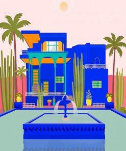 Jardin Majorelle Illustration paint by number
