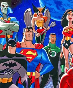 Justice League Animation paint by number