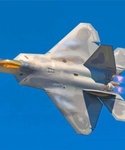 Lockheed Martin F22 Raptor paint by numbers