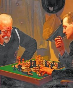 Men Plying Chess Game paint by numbers