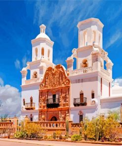 Mission San Xavier paint by number