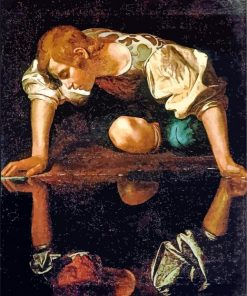 Narcissus Caravaggio paint by number