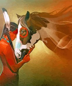 Native Indian Horse paint by numbers