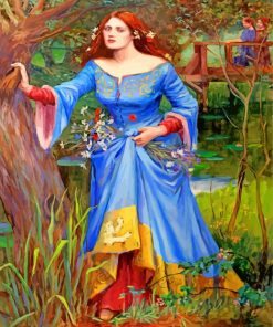 Ophelia Blue Dress Paint by numbers