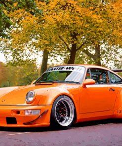 Orange RWB Porsche paint by numbers