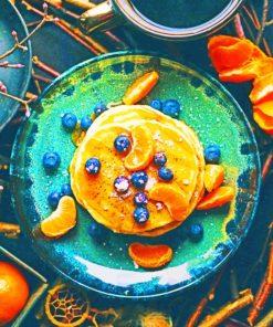 Orange pancake paint by numbers