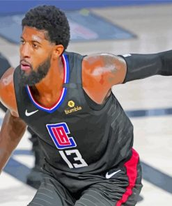 Player Paul George paint by number