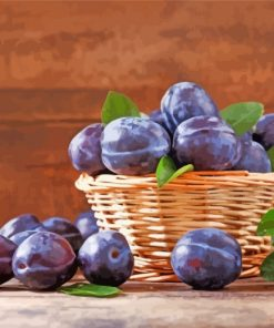 Plums In Basket paint by number