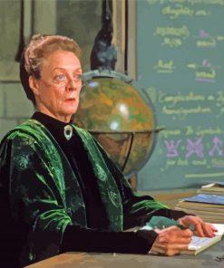 Professor Minerva McGonagall paint by number