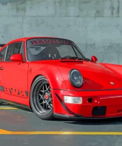 Red RWB Porsche Car Paint by number