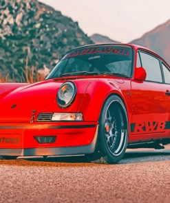 Red RWB Porsche paint by numbers