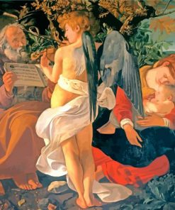 Rest on the Flight into Egypt by Caravaggio paint by number