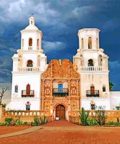 San Xavier Indian Reservation paint by number