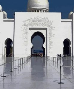 Abu Dhabi Sheikh Zayed Grand Mosque paint by numbers