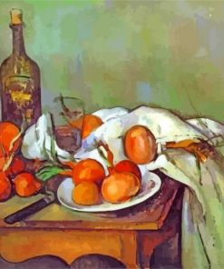 Still life with onions paint by numbers