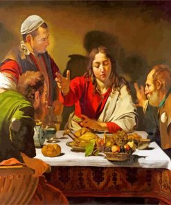 Supper at Emmaus by Caravaggio paint by number