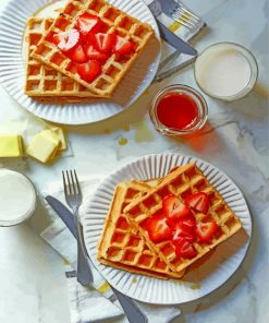 Sweet Waffles Plats paint by numbers
