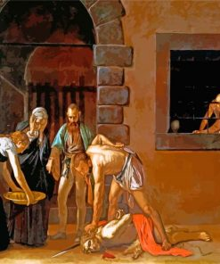The Beheading of St John the Baptist Caravaggio paint by number