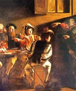 The Calling of St Matthew Caravaggio paint by number