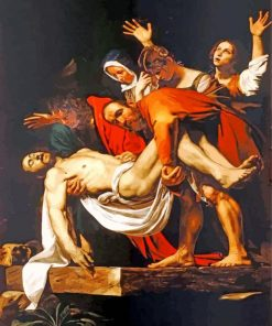 The Entombment of Christ Caravaggio paint by number