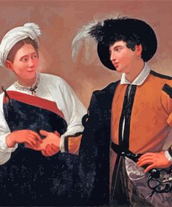 The Fortune Teller by Caravaggio paint by numbers