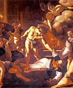 The Martyrdom of Saint Matthew by Caravaggio paint by number