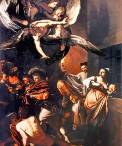 The Seven Works of Mercy by Caravaggio paint by number