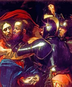 The Taking of Christ by Caravaggio paint by numbers