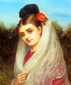 The Young Bride Paint by numbers